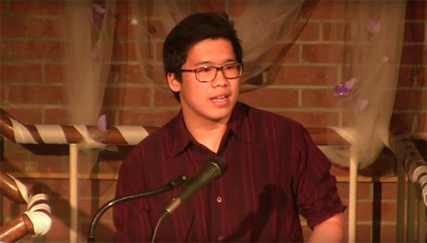 Lee Tran at Olney Poetry Slam