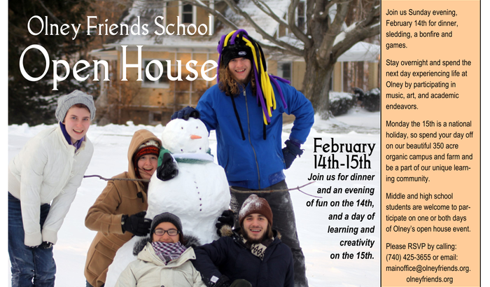 Open House Event: February 14th and 15th