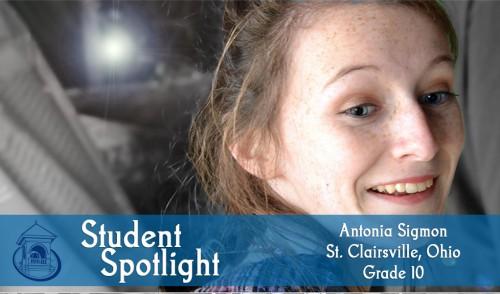 Student Spotlight: Antonia Sigmon